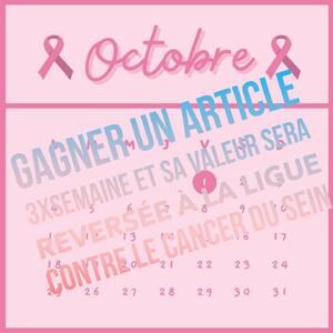 🎀 CALENDRIER ROSE 🎀 JOUEZ POUR GAGNERÇa vous tente? OCTOBRE c'est le mois pour sensibiliser au dépistage du cancer du sein et récolter des fonds pour la recherche 🙏🌸 Pendant ce mois d'octobre, je vous propose un événement unique sur mon Instagram : tout plein de micro-concours !3 jours par semaine, je vous présenterai un article ROSE À GAGNER si la publication dépasse les 100 likes. j'offrirai l'article à le ou la gagnante du post.Pour participer, il vous suffira de :- Liker, - Partager le post en story - Mentionner 3 copines en commentaire Pour chaque article offert, je m'engage à reverser sa valeur à la ligue contre le cancer du sein ! 💞TOUS SOLIDAIRES POUR LA RECHERCHE CONTRE LE CANCER DU SEIN 🙌🏼#ConceptStore #ConceptStoreParis #concours #jeuxconcours #concoursinstagram #CommerceLocal #CommerceDeProximité #BoutiqueEnLigne #BoutiqueDeCreateurs #CreateursFrancais #Paris #RégionParisienne #Clamart #octobrerose #cancerdusein