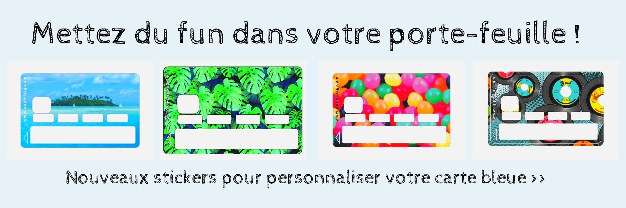 Découvrez nos stickers pour personnaliser votre carte bleue - nouveaux modèles